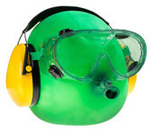 Goggles and ear protectors, protective equipment — Stock Photo