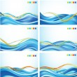 Wave backgrounds — Stock Vector #39275355