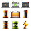 Stock Vector: Batteries