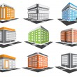 Stock Vector: Buildings set