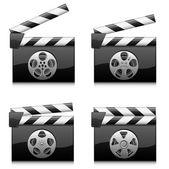 Film clapper kurulu — Stok Vektör