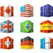 Different flags — Stock Vector