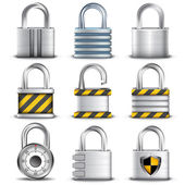 Padlocks — Stock Vector