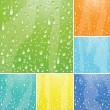 Stock Vector: Water drops