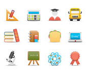 School and education icons — Stok Vektör