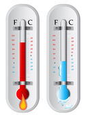Warme en koude — Stockvector
