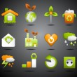 eco icons — Stock Vector #40114075