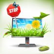 Stock Vector: Monitor