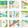 Stock Vector: City maps