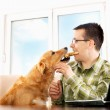 Sharing breakfast with best friend — Stock Photo #40355039