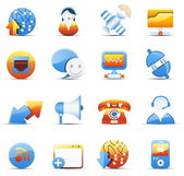 Internet and communicaiton icons — Vector de stock