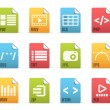 File extensions icons — Stock Vector