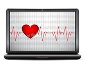 Kalp atışı — Stok Vektör