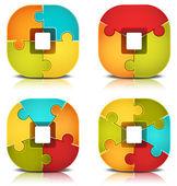 Puzzle — Vetorial Stock