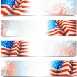 Fourth of July banners — Stock Vector #47849597