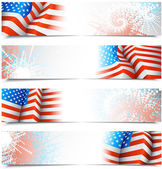 Fourth of July banners — Stok Vektör