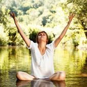 Yoga concept — Stock Photo