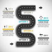 Infographic — Vettoriale Stock