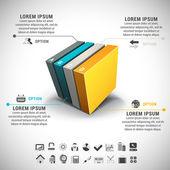 Infographic — Stockvektor