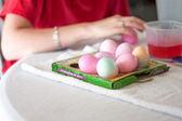 Dying Easter Eggs — Stockfoto