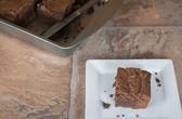 Chocolate Fudge Brownies — Stock Photo
