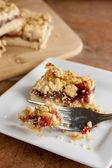 Raspberry Fruit and Oatmeal Bars — Stock Photo