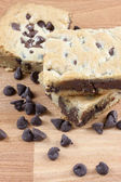 Chocolate Chip Cookie Bars — Stock Photo