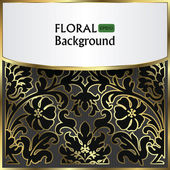 Background with a gold flower pattern — Stock Vector