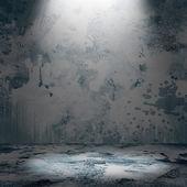 Spot lighting over dark background — 图库照片