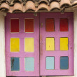 Stock Photo: Old colorfull window