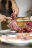 Cooking meat — Stock Photo