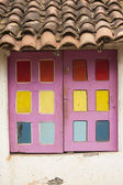 Old colorfull window — Stock Photo