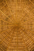 Roof of wood and straw — Stock Photo