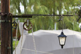 Sail side with pulley — Stock Photo