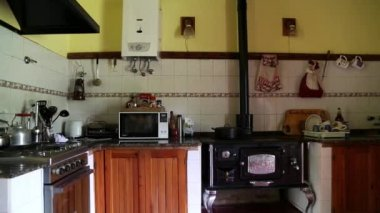 Rural house, vintage scene — Stock Video