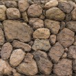Detail of the structure of a gabion. Texture — Stock Photo