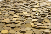 Coins texture — Stock Photo