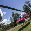 Helicopter on nature background — Stock Photo