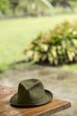 Hat on the bench — Stock Photo
