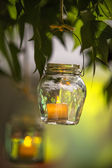 Candlestick on the tree — Stock Photo