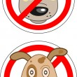 Постер, плакат: Sign prohibiting dogs