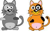 Cartoon cat. — Stock Vector