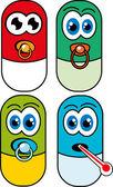 P-piller — Stockvektor