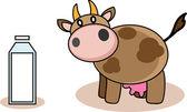 корова и молоко — Cтоковый вектор