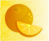 Orange — Stockvektor