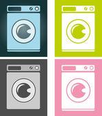 Creative design of washing-machine. Fully editable vector. — Stock Vector