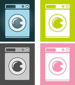 Washing-machine. — Stock Vector