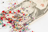 Crystal and banknotes. — Stock Photo