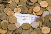 Russian and Ukrainian money. — Stock Photo