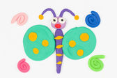 Plasticine butterfly. — Stock Photo